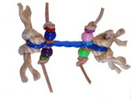 Dumbell Parrot Foot Toy
